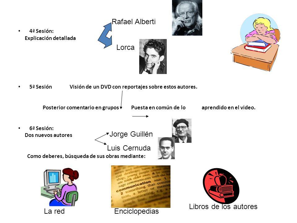 Rafael Alberti Lorca Jorge Guillén Luis Cernuda Libros de los autores