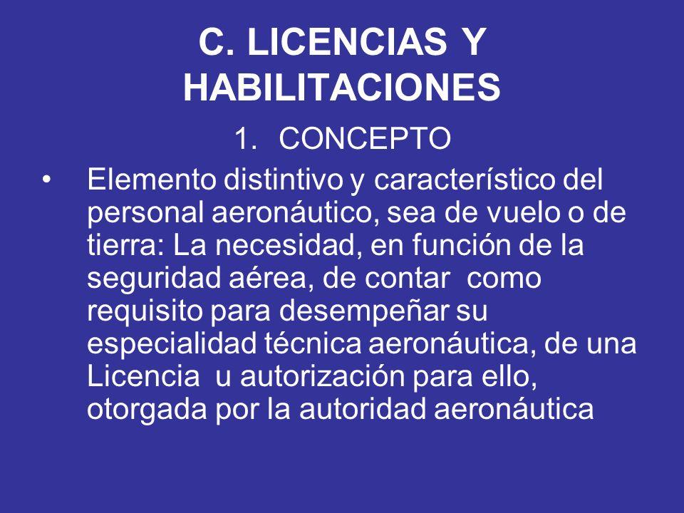 C. LICENCIAS Y HABILITACIONES