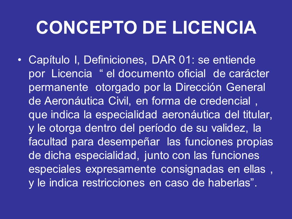 CONCEPTO DE LICENCIA
