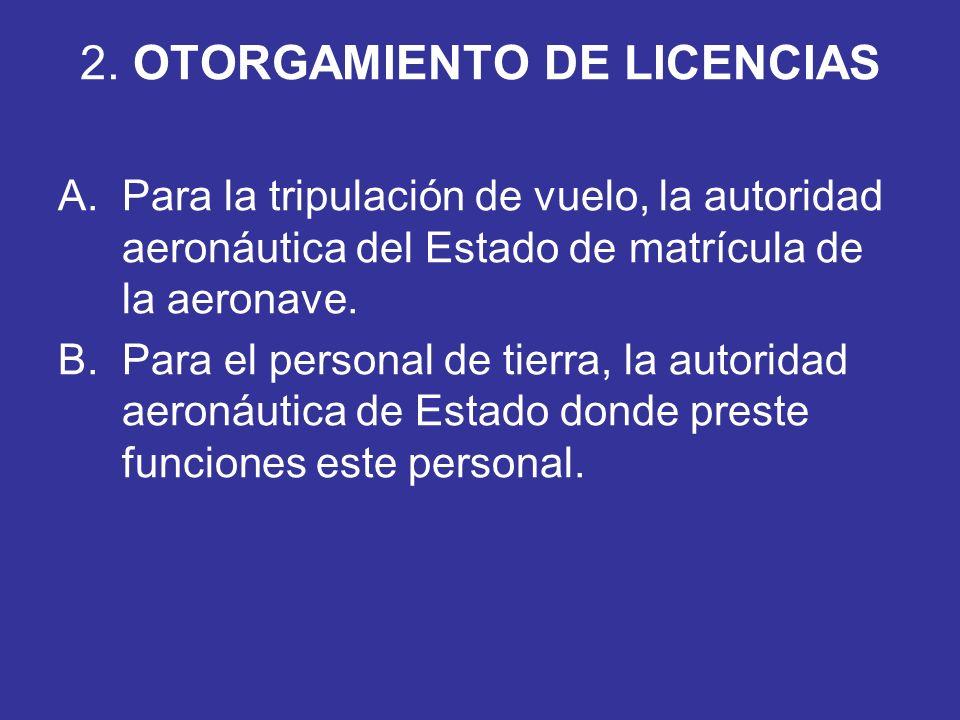 2. OTORGAMIENTO DE LICENCIAS