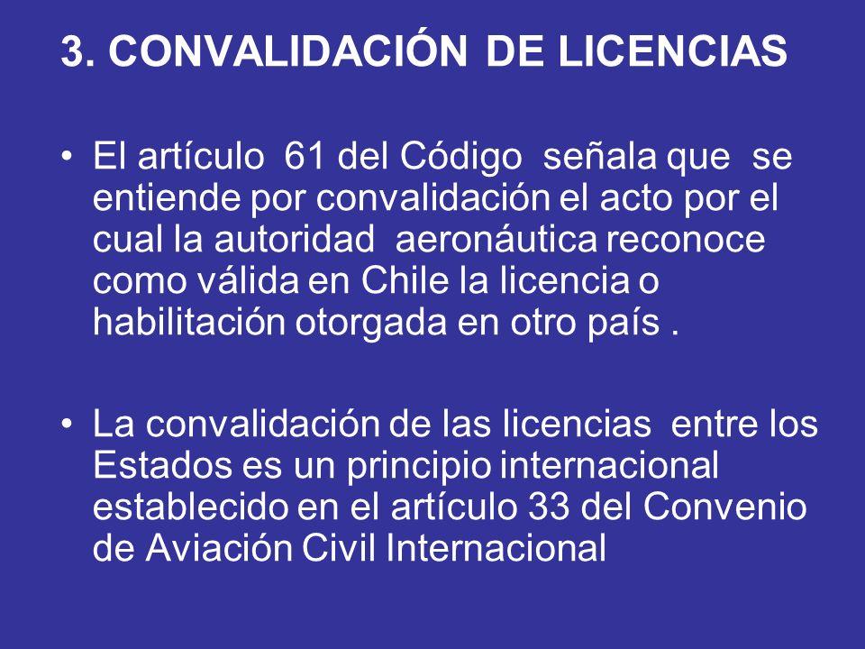 3. CONVALIDACIÓN DE LICENCIAS