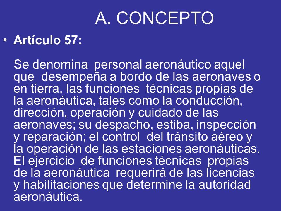 A. CONCEPTO Artículo 57: