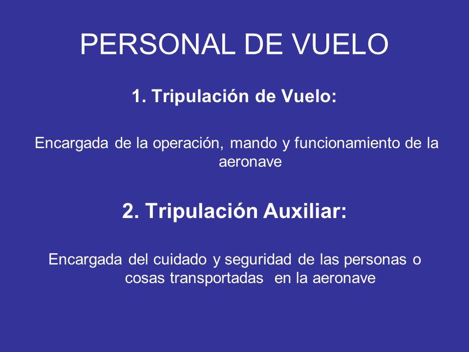 2. Tripulación Auxiliar: