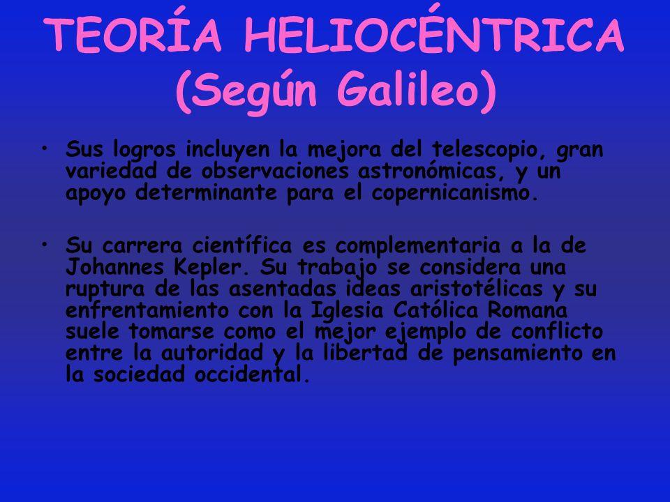 TEORÍA HELIOCÉNTRICA (Según Galileo)