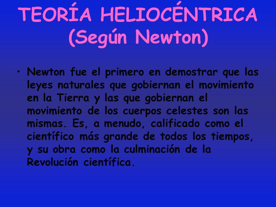 TEORÍA HELIOCÉNTRICA (Según Newton)