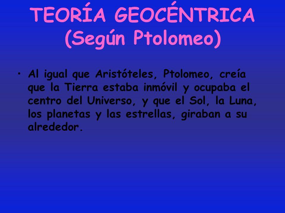 TEORÍA GEOCÉNTRICA (Según Ptolomeo)