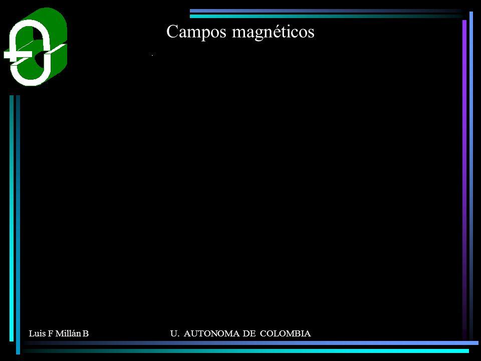 Campos magnéticos Luis F Millán B U. AUTONOMA DE COLOMBIA