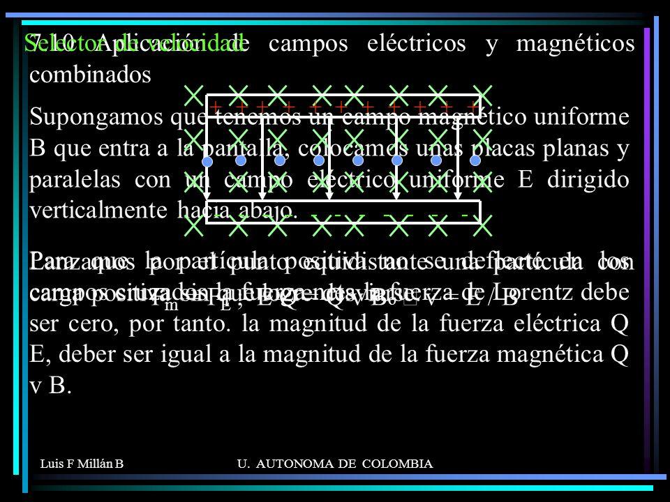 7.10 Aplicación de campos eléctricos y magnéticos combinados
