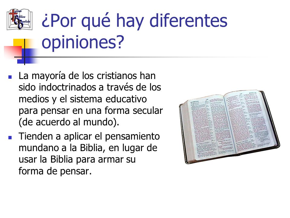 ¿Por qué hay diferentes opiniones