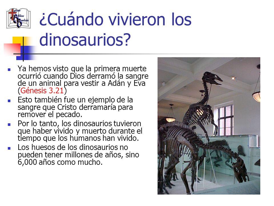 ¿Cuándo vivieron los dinosaurios