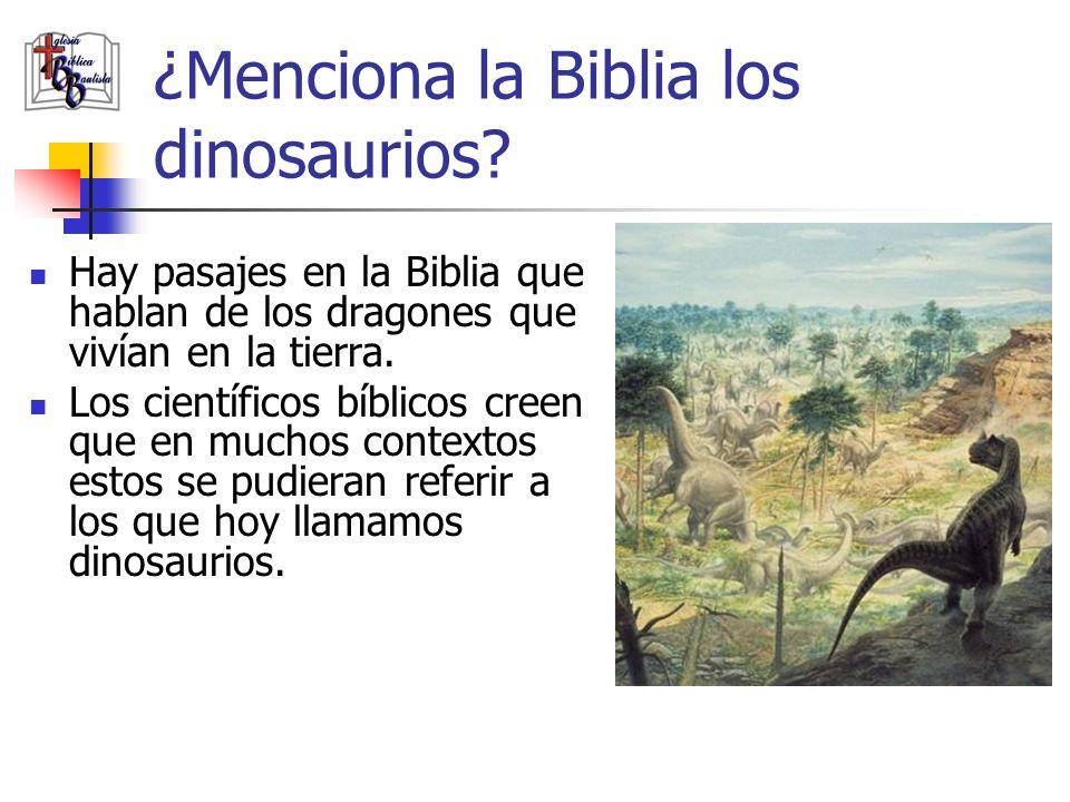 ¿Menciona la Biblia los dinosaurios