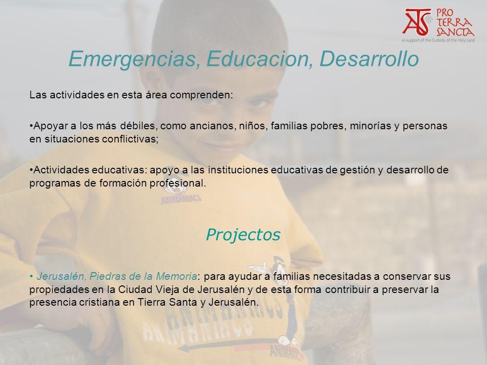 Emergencias, Educacion, Desarrollo