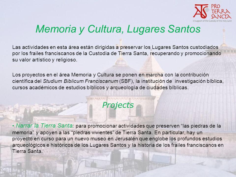 Memoria y Cultura, Lugares Santos