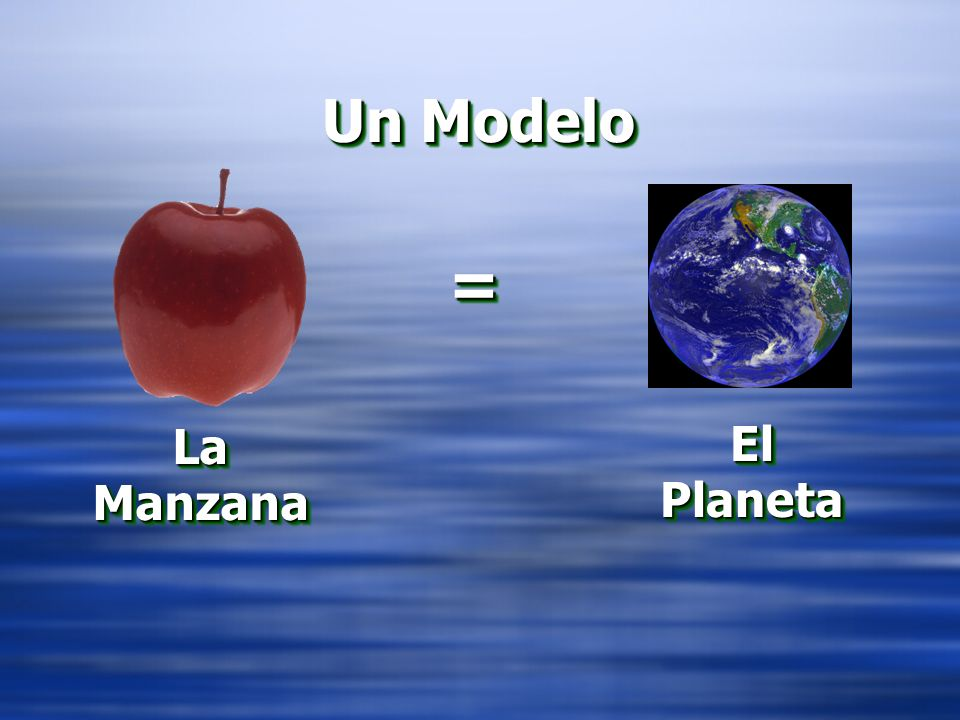 = Un Modelo La Manzana El Planeta EL MODELO – LA MANZANA Y EL PLATO