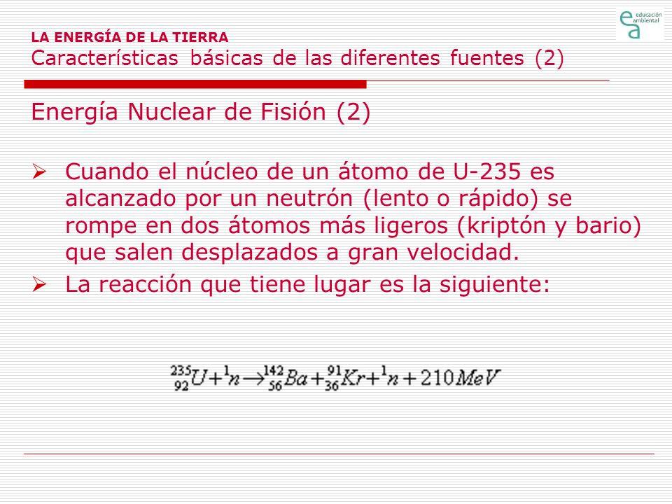 Energía Nuclear de Fisión (2)