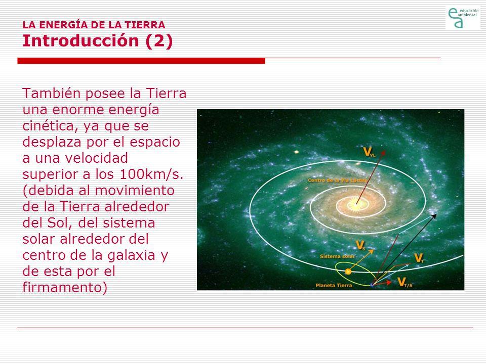 LA ENERGÍA DE LA TIERRA Introducción (2)