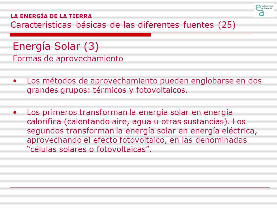 Energía Solar (3) Formas de aprovechamiento