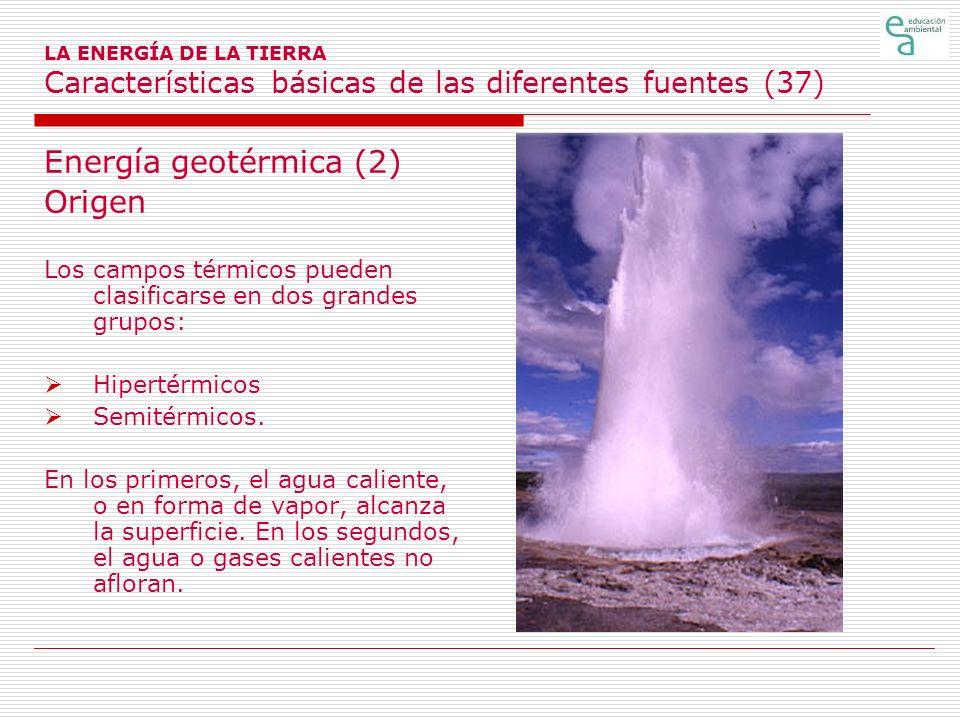 Energía geotérmica (2) Origen