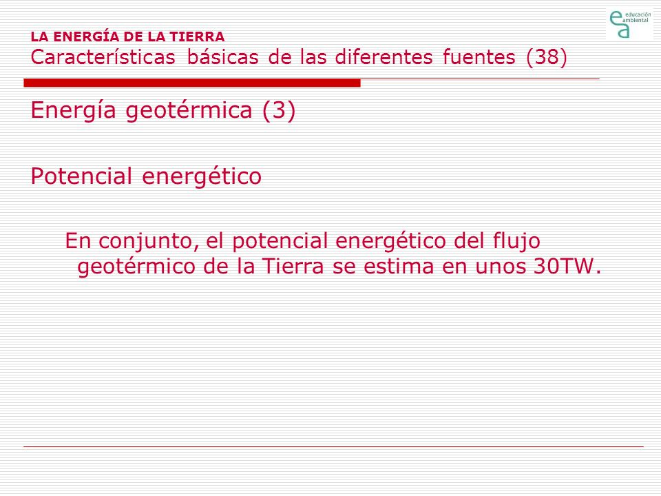 Energía geotérmica (3) Potencial energético