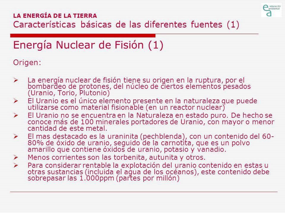 Energía Nuclear de Fisión (1)