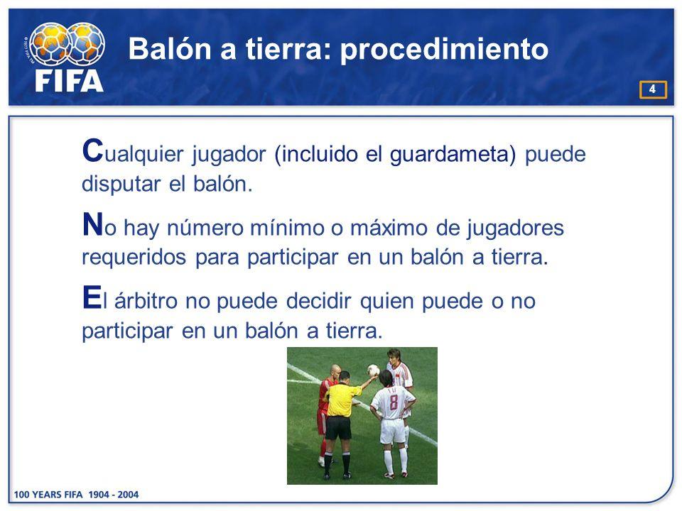 Balón a tierra: procedimiento
