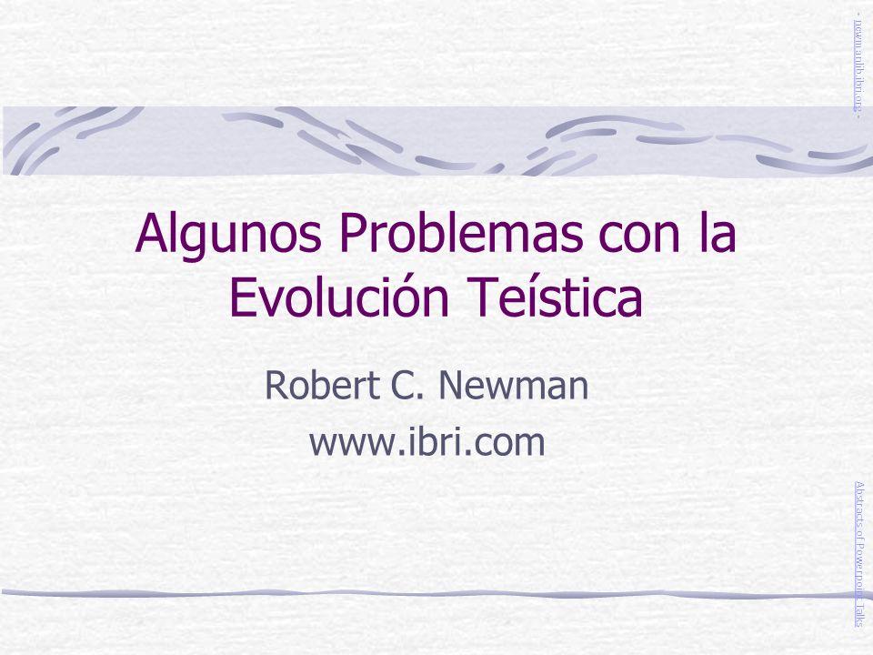 Algunos Problemas con la Evolución Teística