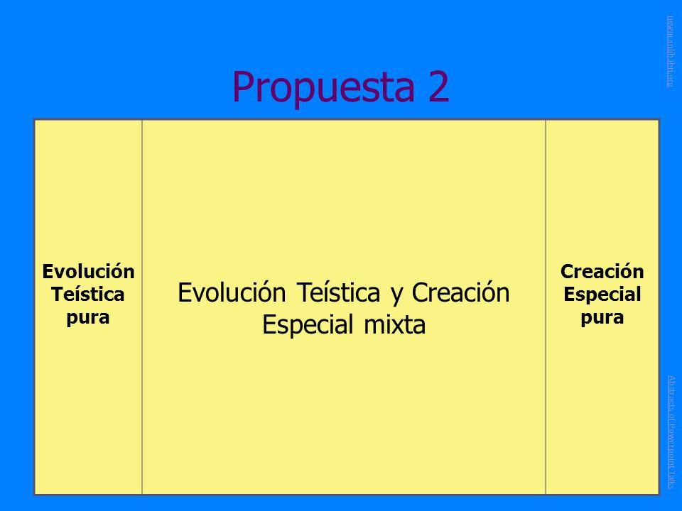 Evolución Teística pura Creación Especial pura