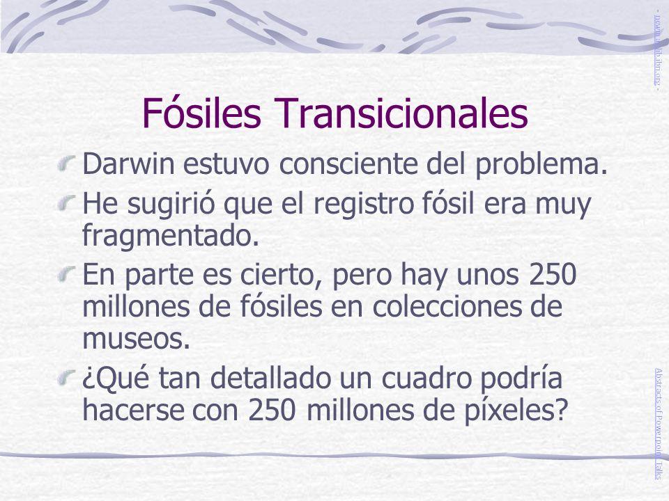 Fósiles Transicionales