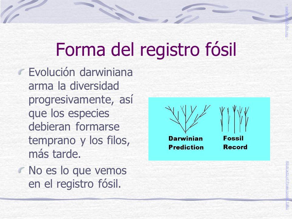 Forma del registro fósil