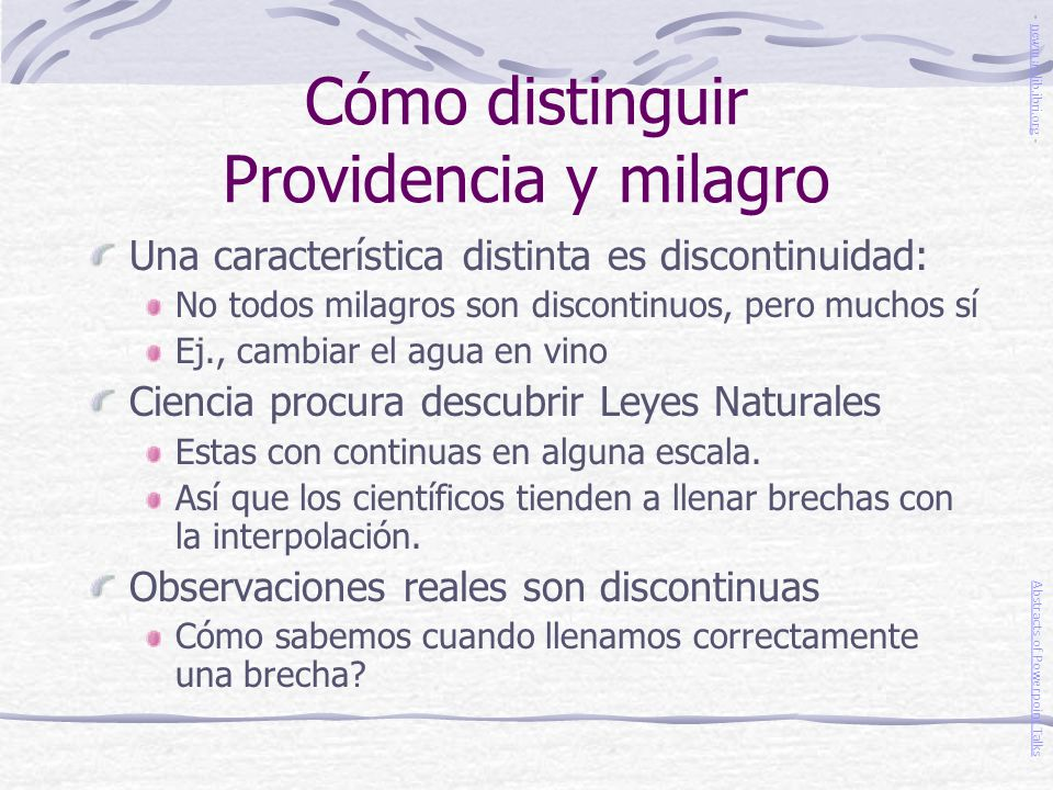 Cómo distinguir Providencia y milagro