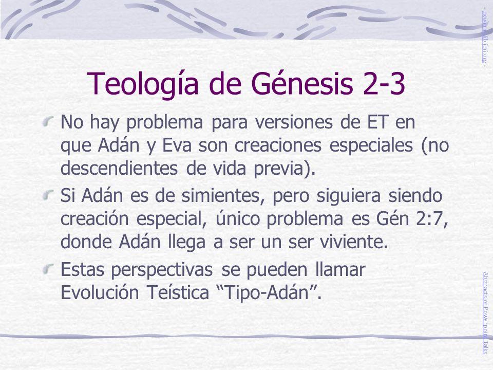 Teología de Génesis 2-3 - newmanlib.ibri.org -