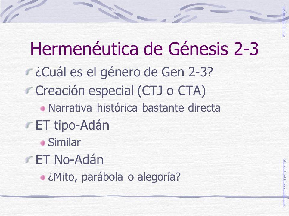 Hermenéutica de Génesis 2-3