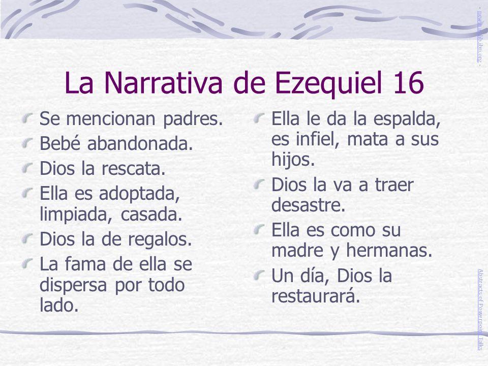 La Narrativa de Ezequiel 16