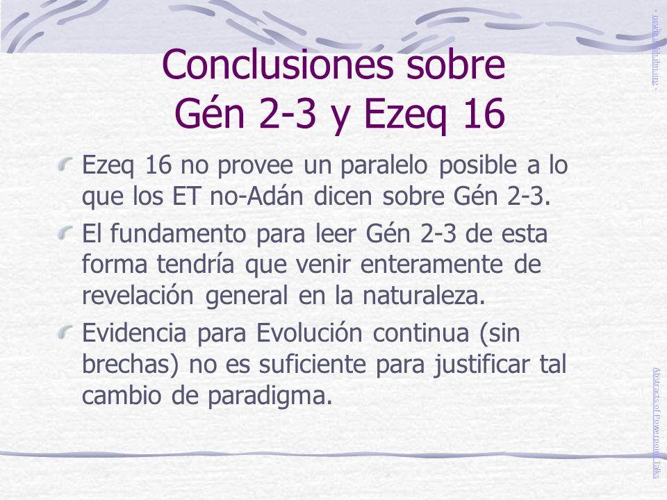 Conclusiones sobre Gén 2-3 y Ezeq 16