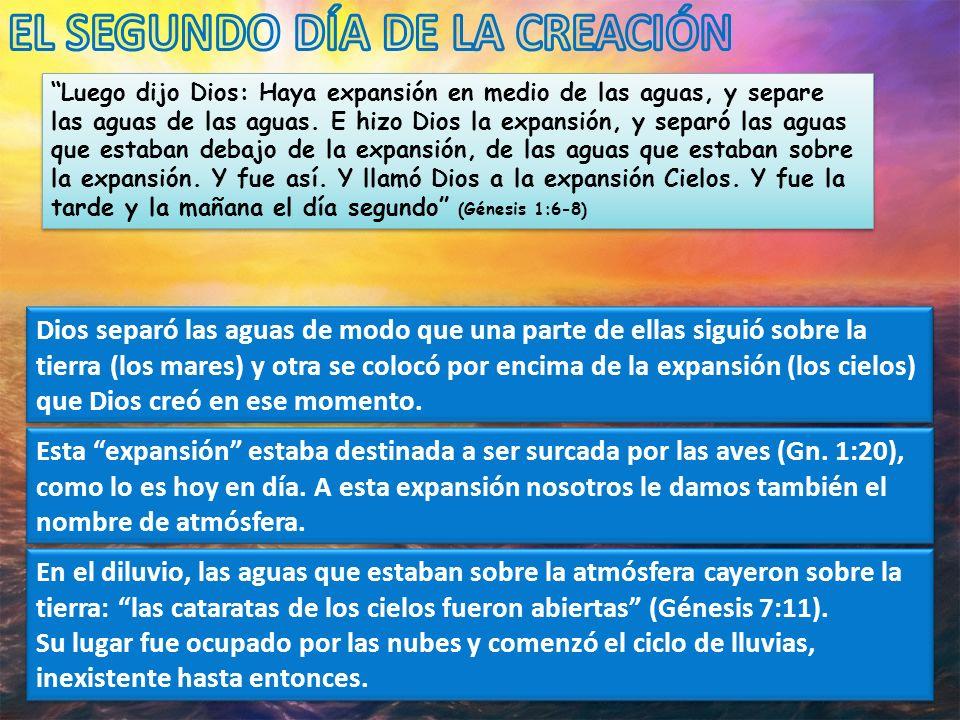 EL SEGUNDO DÍA DE LA CREACIÓN