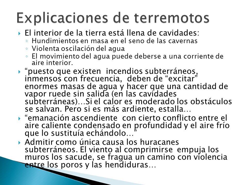 Explicaciones de terremotos