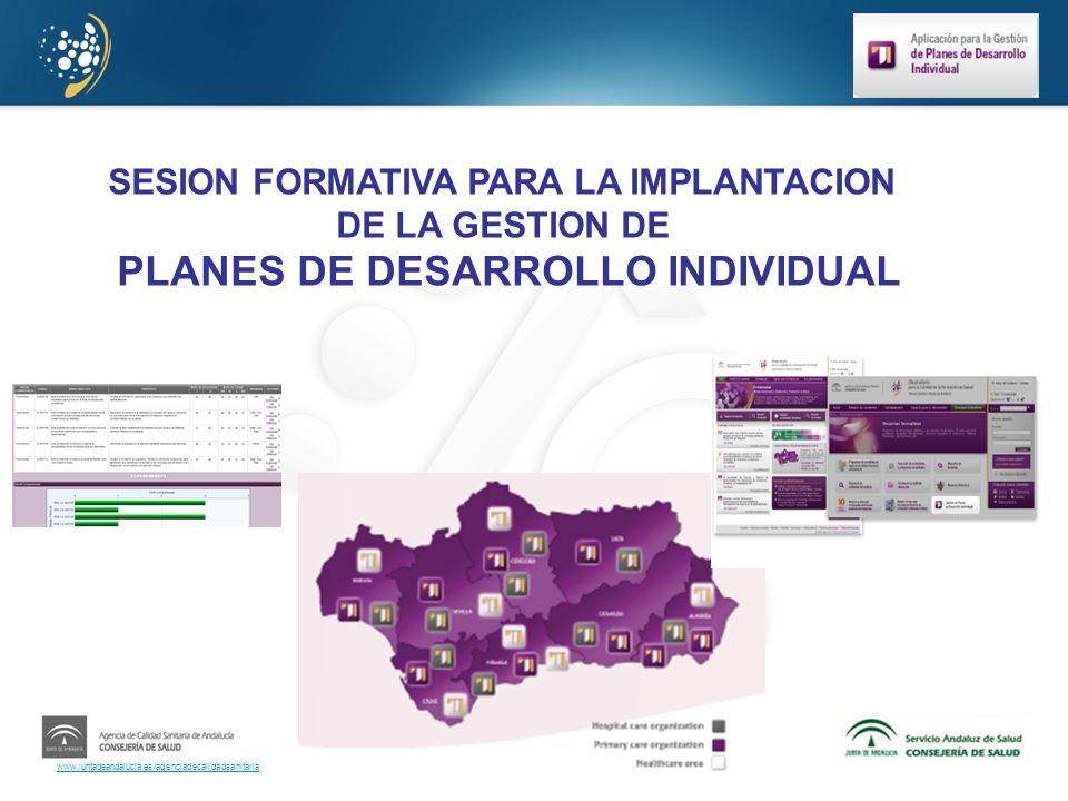 SESION FORMATIVA PARA LA IMPLANTACION PLANES DE DESARROLLO INDIVIDUAL
