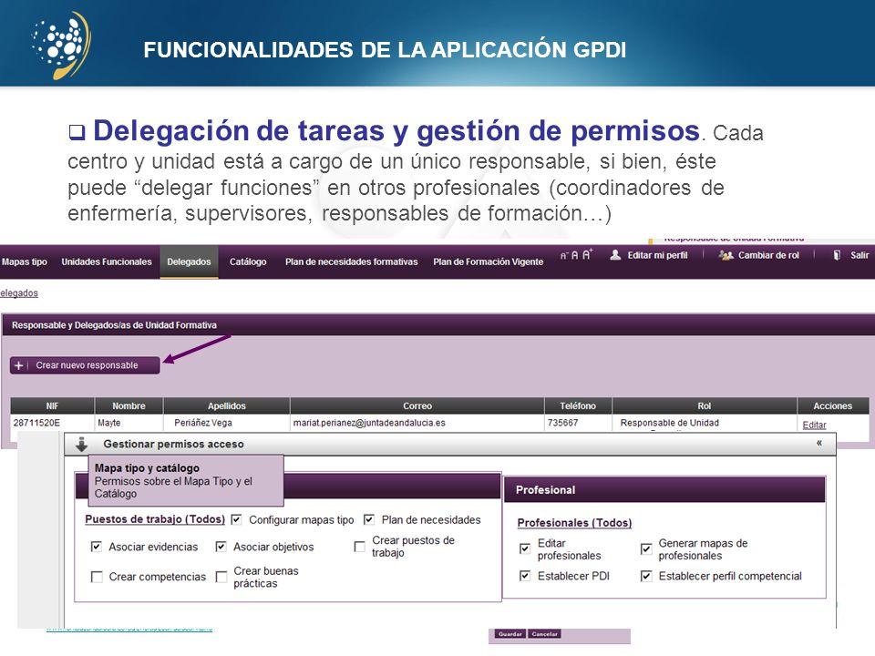 FUNCIONALIDADES DE LA APLICACIÓN GPDI