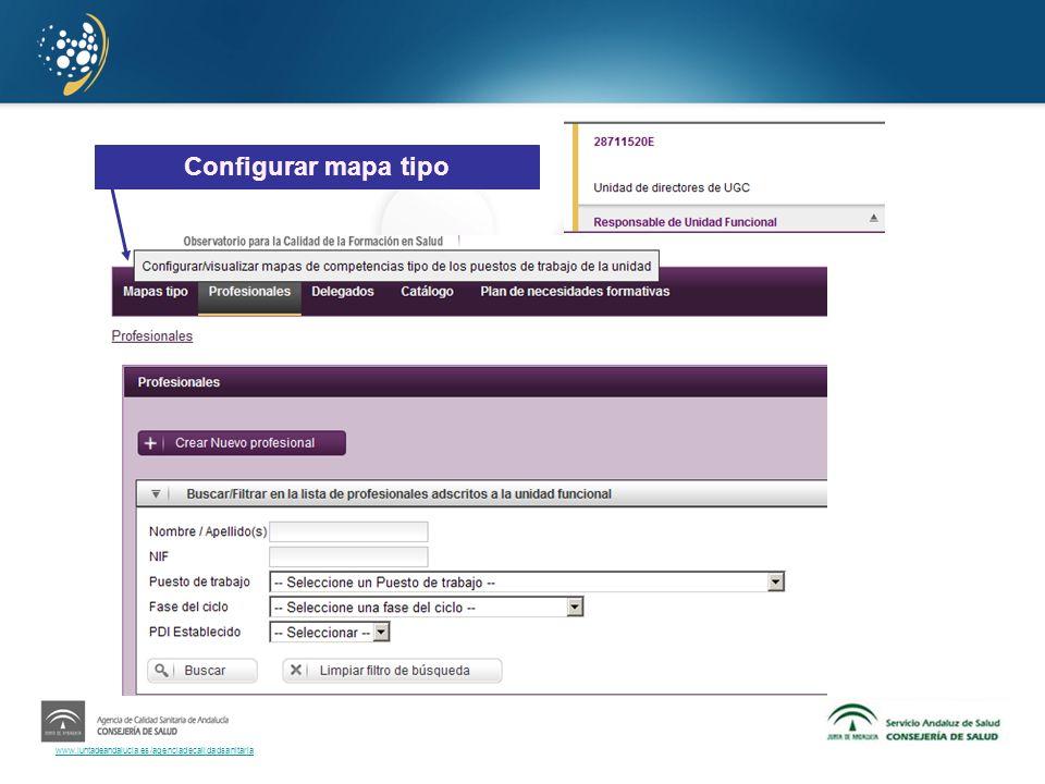 Configurar mapa tipo