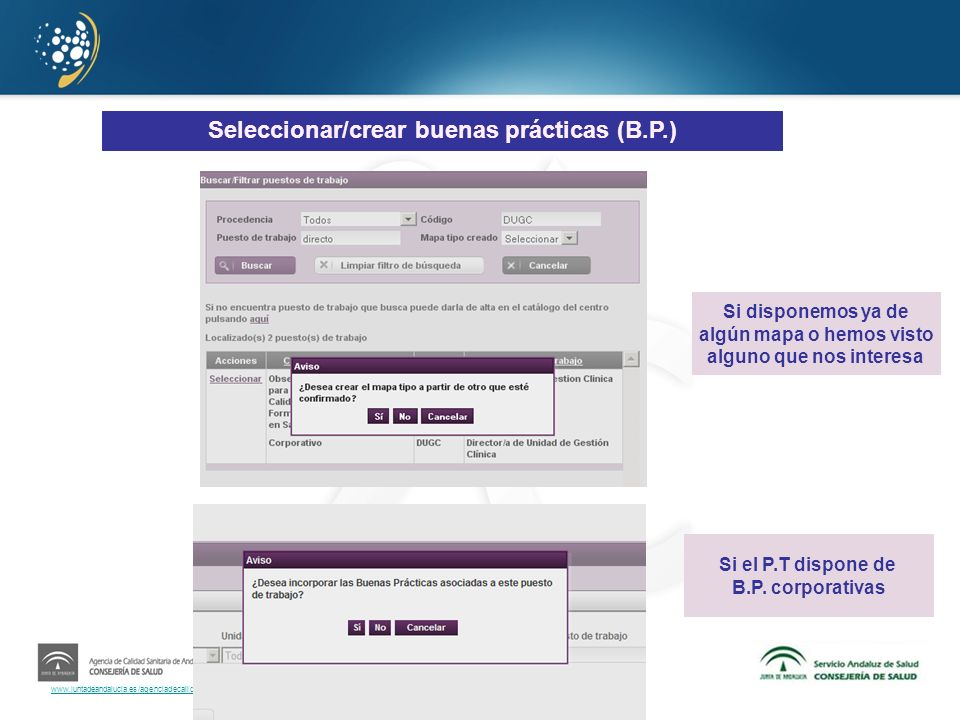 Seleccionar/crear buenas prácticas (B.P.)
