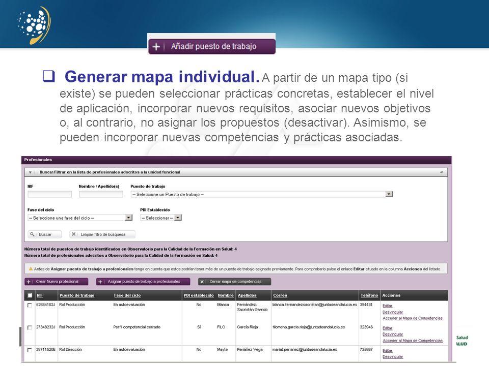 Generar mapa individual