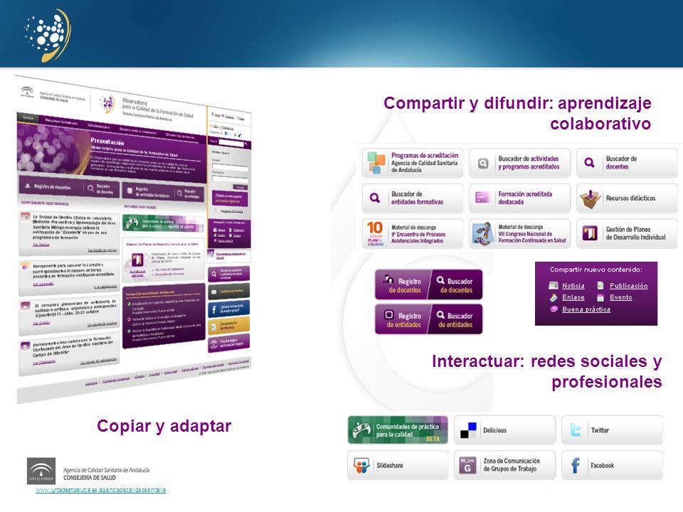 Compartir y difundir: aprendizaje colaborativo