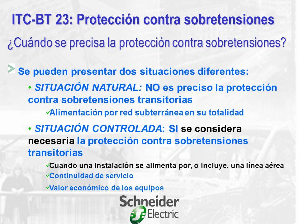ITC-BT 23: Protección contra sobretensiones