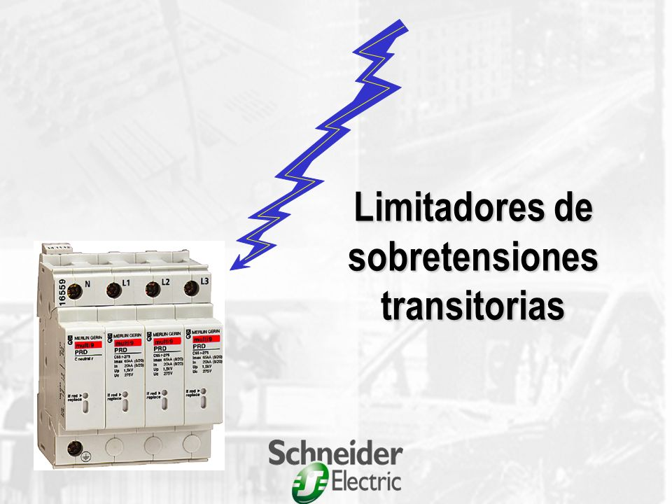 Limitadores de sobretensiones transitorias