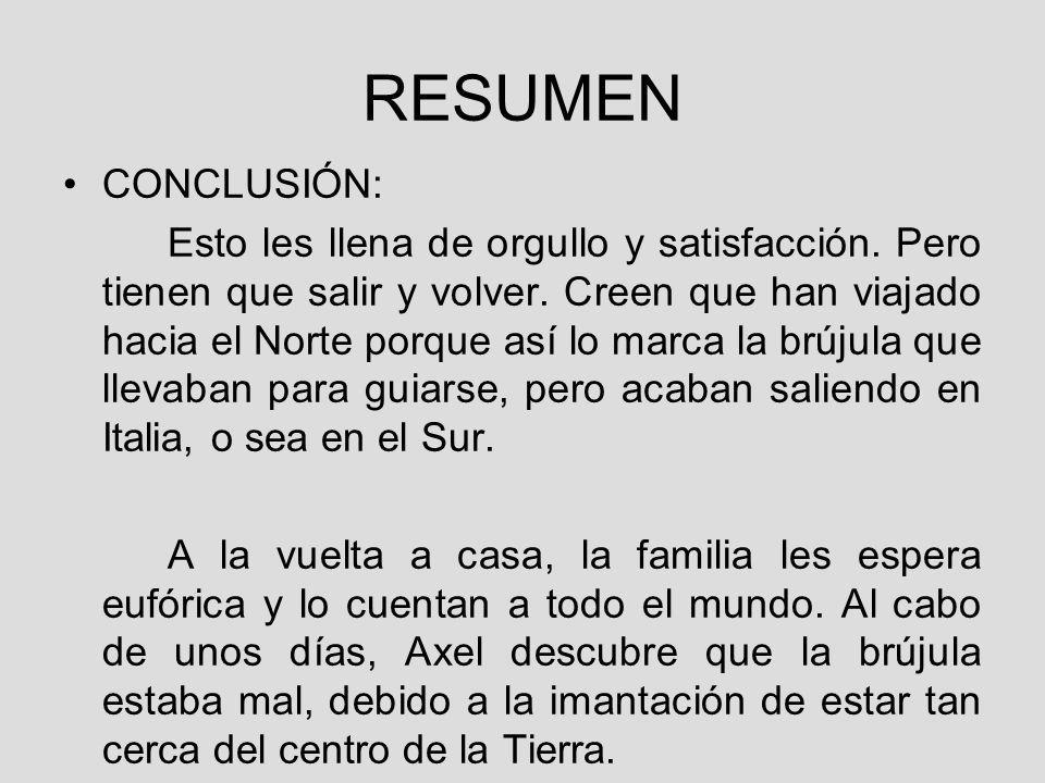 RESUMEN CONCLUSIÓN: