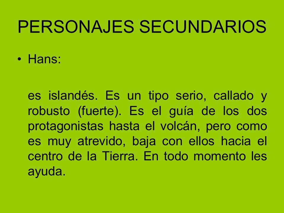 PERSONAJES SECUNDARIOS