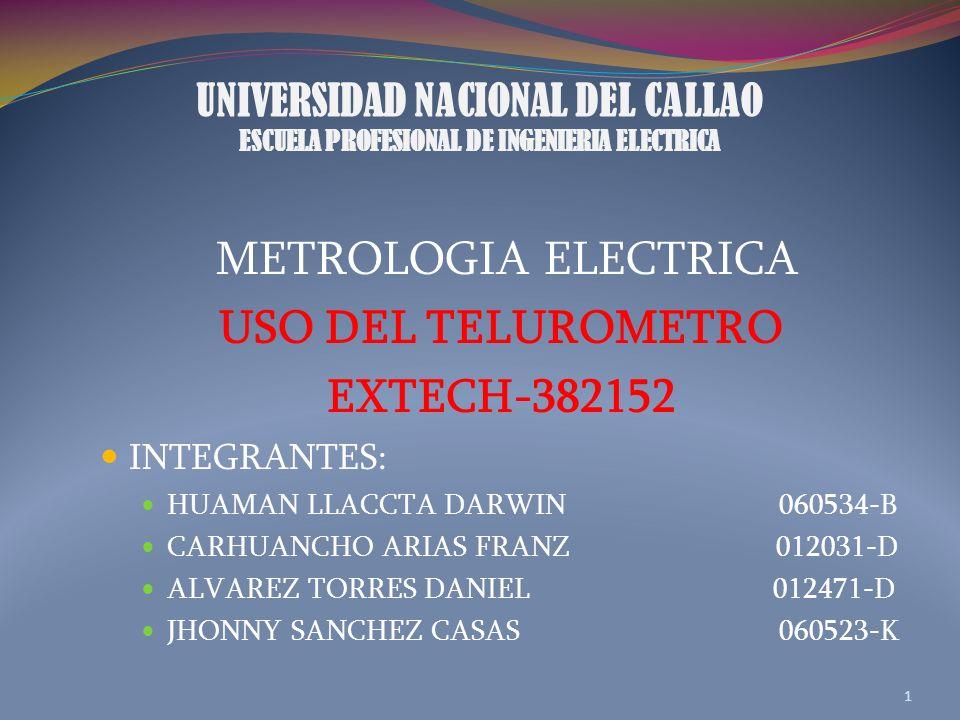 UNIVERSIDAD NACIONAL DEL CALLAO ESCUELA PROFESIONAL DE INGENIERIA ELECTRICA