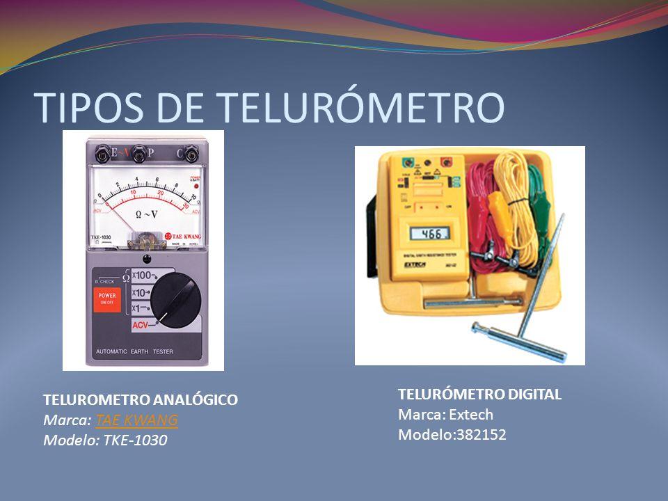 TIPOS DE TELURÓMETRO TELURÓMETRO DIGITAL TELUROMETRO ANALÓGICO