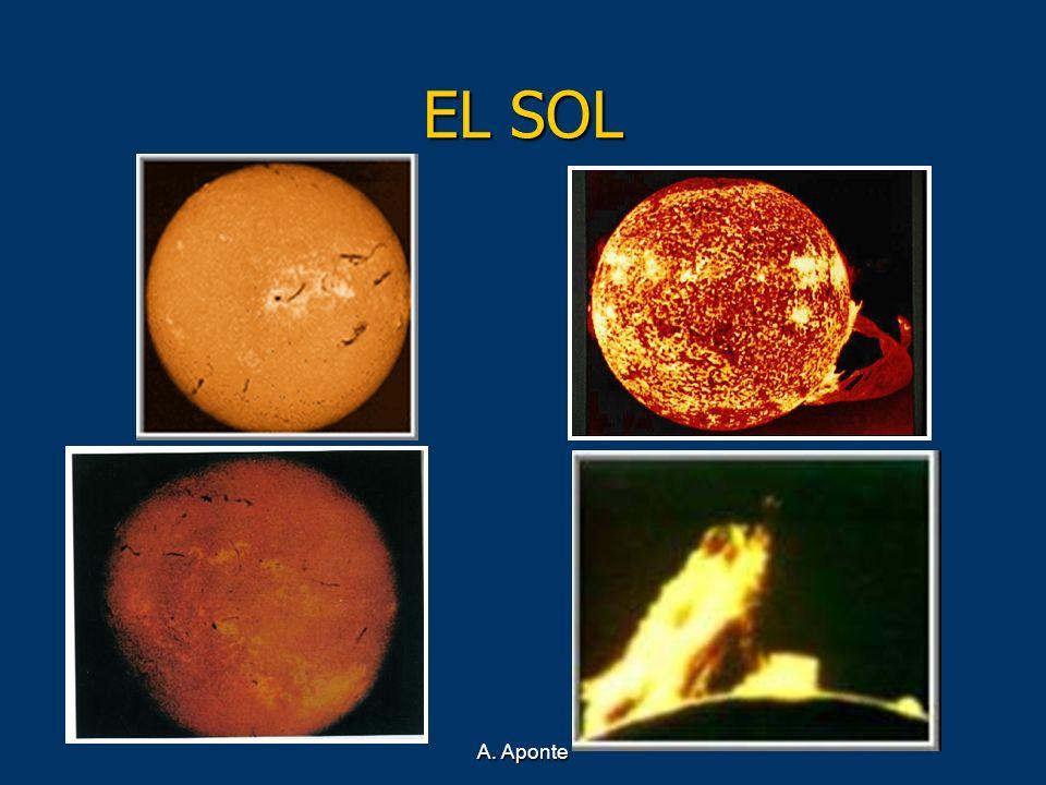 EL SOL A. Aponte A sólo 8 minutos de nosotros se encuentra el Sol.