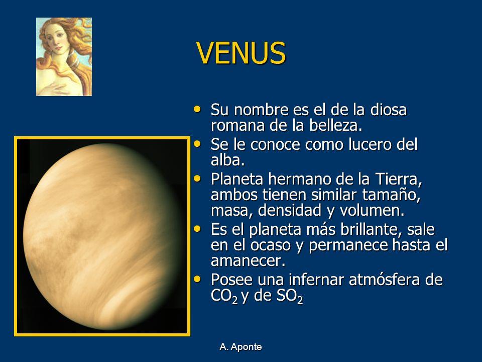 VENUS Su nombre es el de la diosa romana de la belleza.